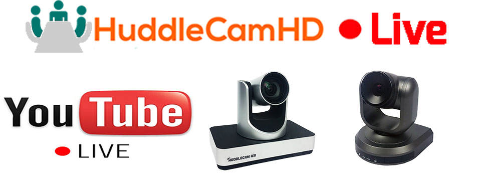 HuddleCamHD combines PTZ video conferencing cameras with YouTube Live's new video streaming service