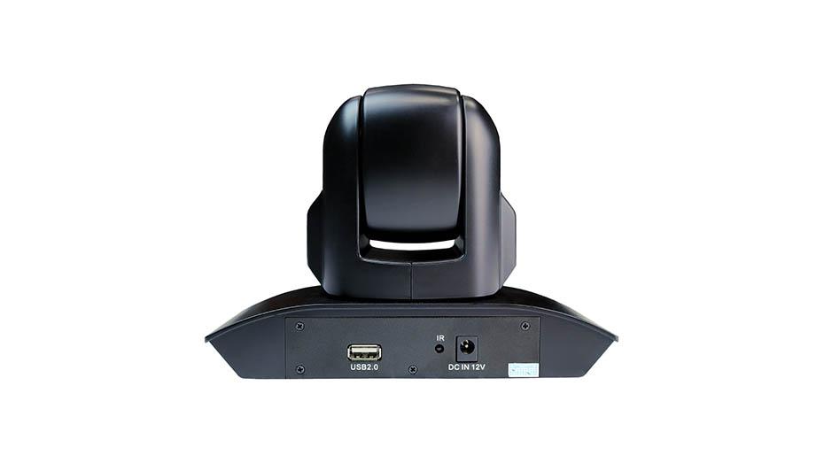 3X Optical Zoom Webcam Black Back